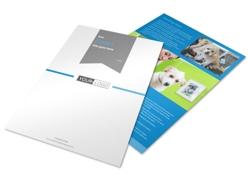 Clean Care Pet Grooming Brochure Template | Mycreativeshop