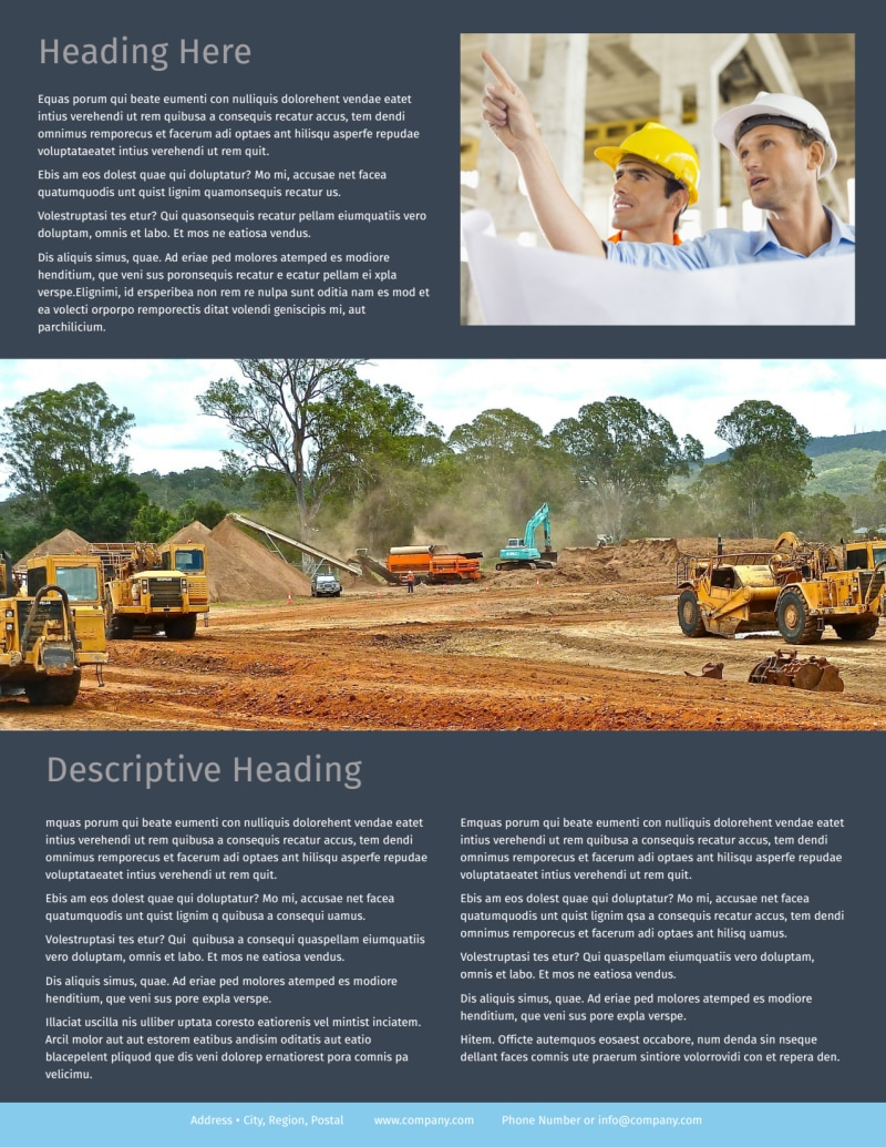 Civil Engineering Flyer Template Preview 3