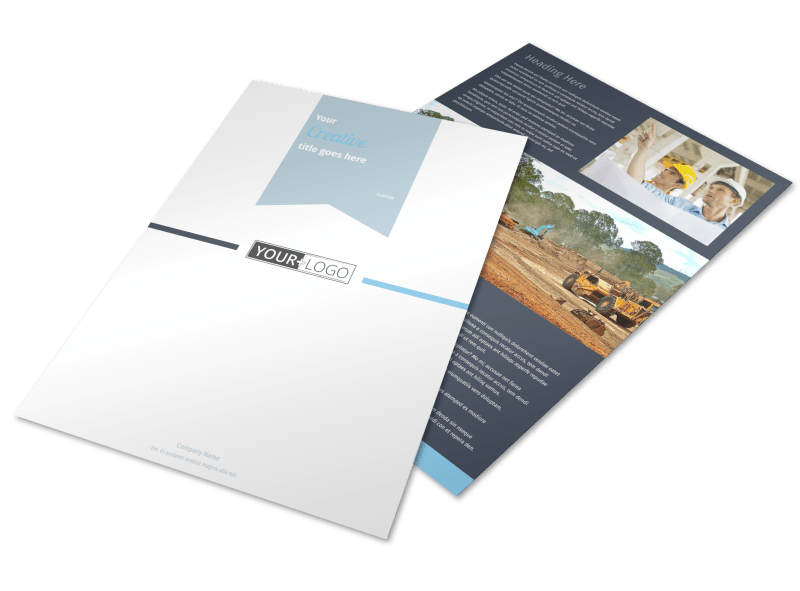 Civil Engineering Flyer Template Preview 1