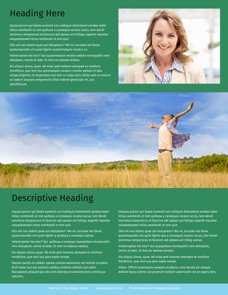 Depression Counseling Flyer Template Preview 3