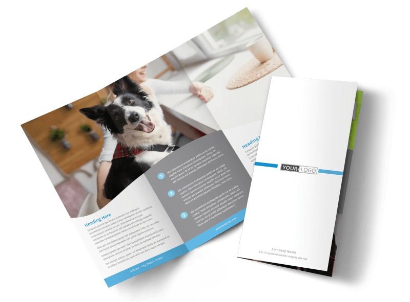 Clean Care Pet Grooming Brochure Template  Mycreativeshop