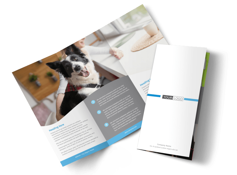Clean Care Pet Grooming Brochure Template Preview 1