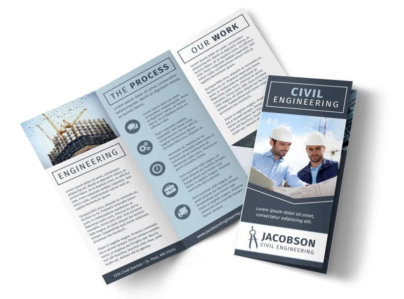 civil engineering brochure template