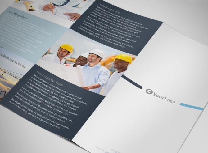 Civil engineers professional services tri fold brochure for Engineering brochure templates