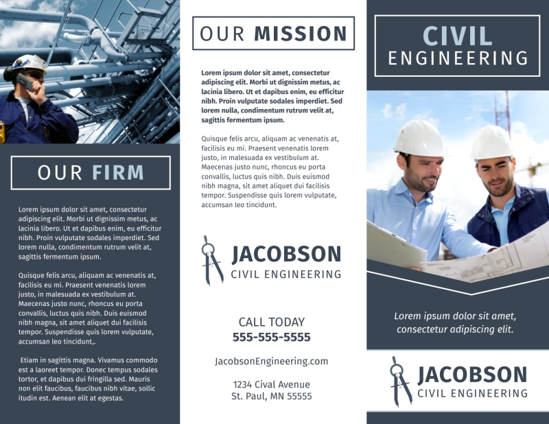 Civil Engineering Brochure Template Preview 2