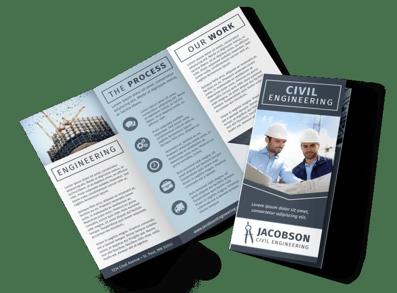 Civil Engineering Brochure Template Preview 1