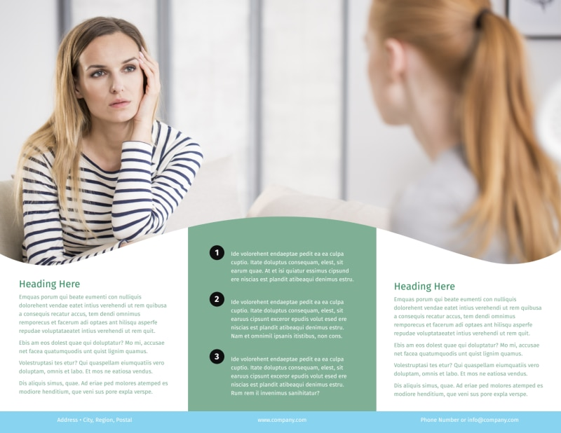 Depression Counseling Brochure Template Preview 3
