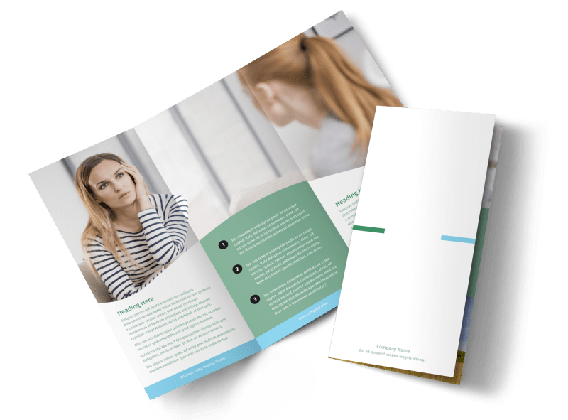 Depression Counseling Brochure Template Preview 1