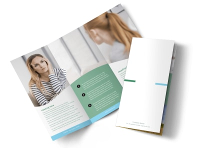 Depression Counseling Tri-Fold Brochure Template preview