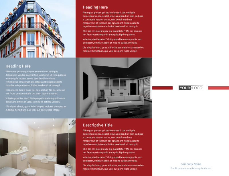 Upscale Apartments Brochure Template Preview 2
