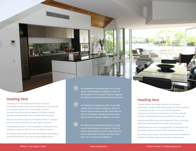 Upscale Apartments Brochure Template Preview 3