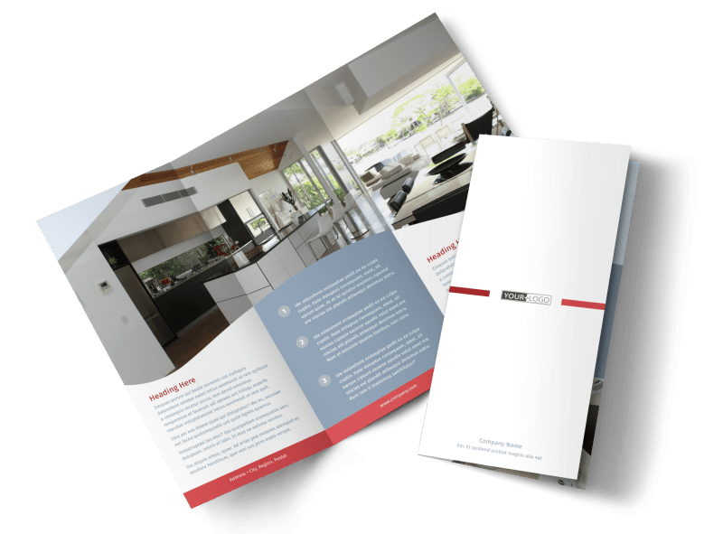 Upscale Apartments Brochure Template Preview 1