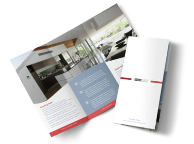 Upscale Apartments Tri-Fold Brochure Template