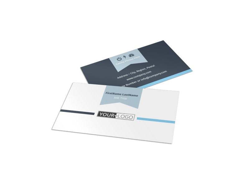 Civil Engineering Business Card Template MyCreativeShop - Template for a business card