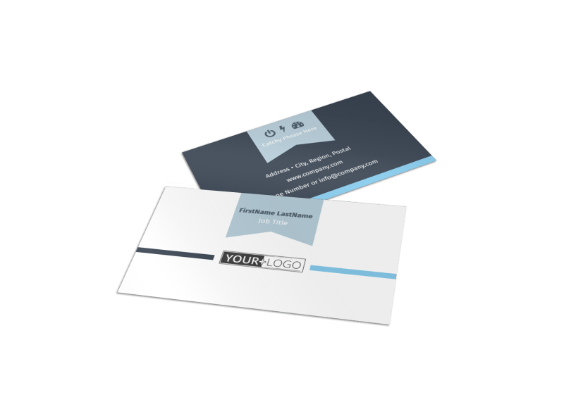 Civil Engineering Business Card Template Preview 1