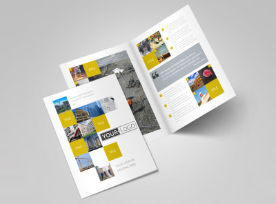 Commercial Construction Bi-Fold Brochure Template 2