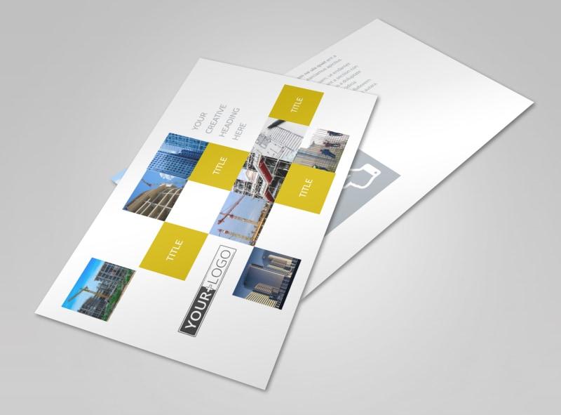 Commercial Construction Postcard Template 2