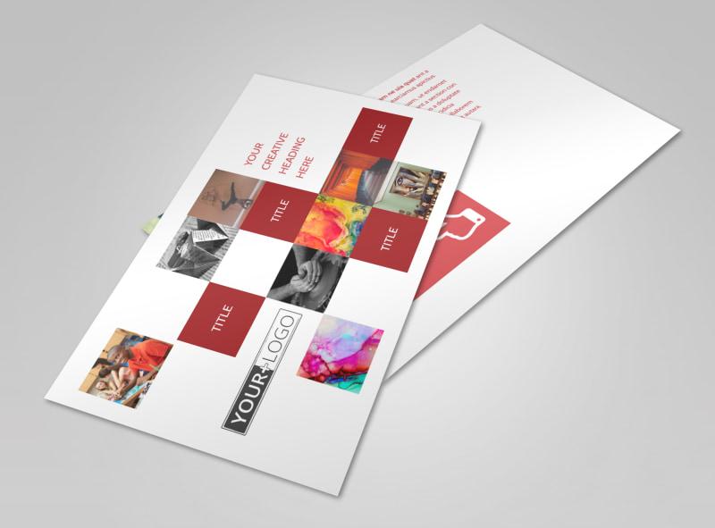 Art & Design School Postcard Template Preview 4