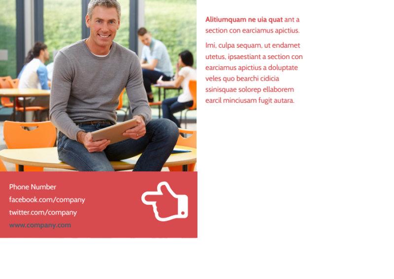 Art & Design School Postcard Template Preview 3