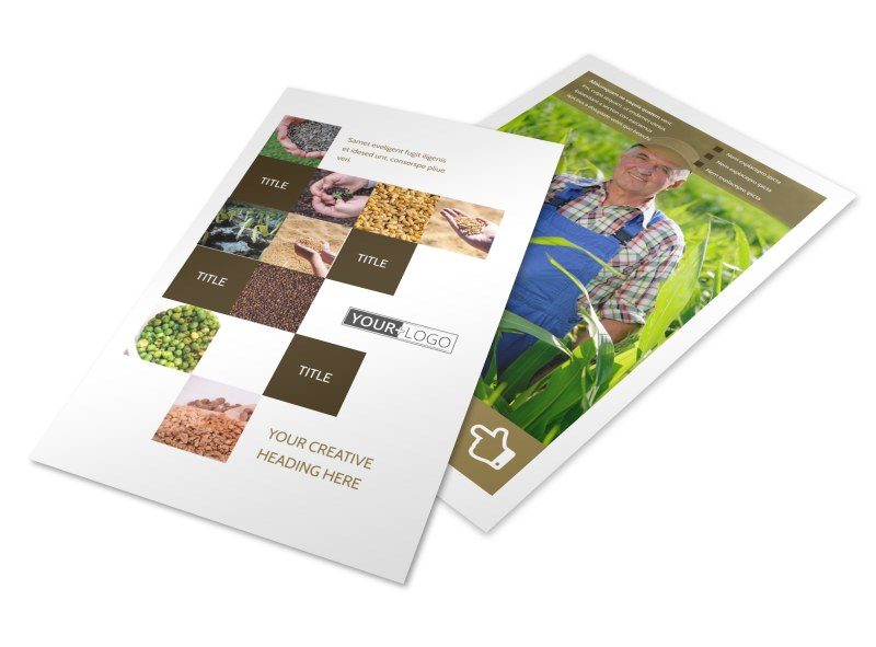Seed Technology Flyer Template 3