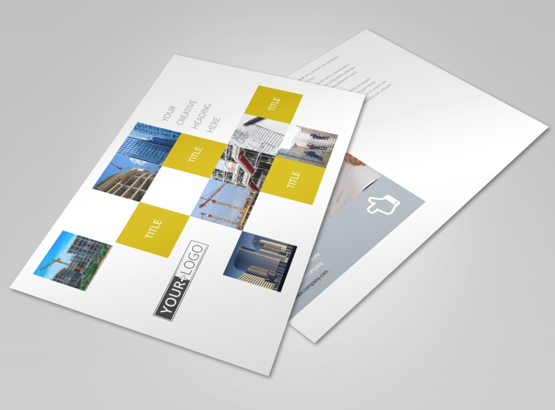 Commercial Construction Postcard Template