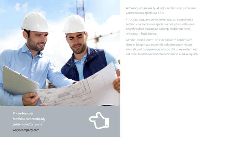 Commercial Construction Postcard Template Preview 3