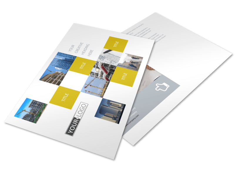 Commercial Construction Postcard Template Preview 1