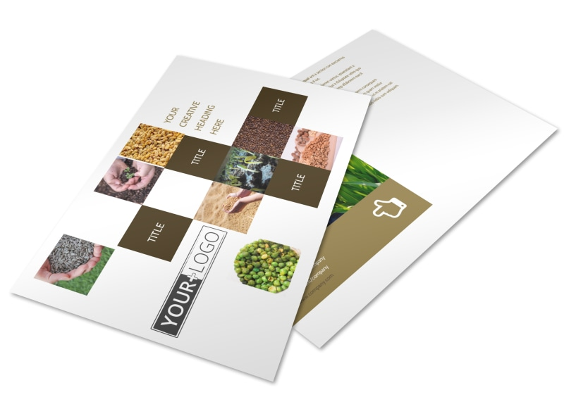Seed Technology Postcard Template Preview 4