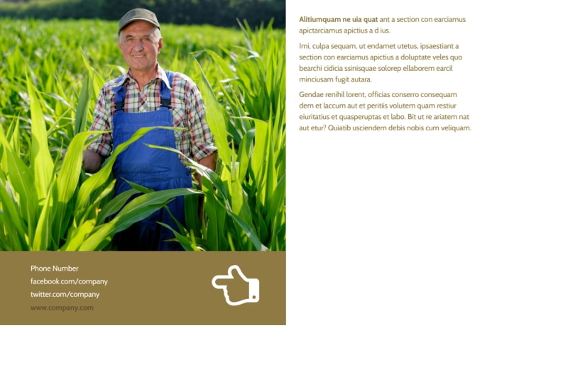 Seed Technology Postcard Template Preview 3