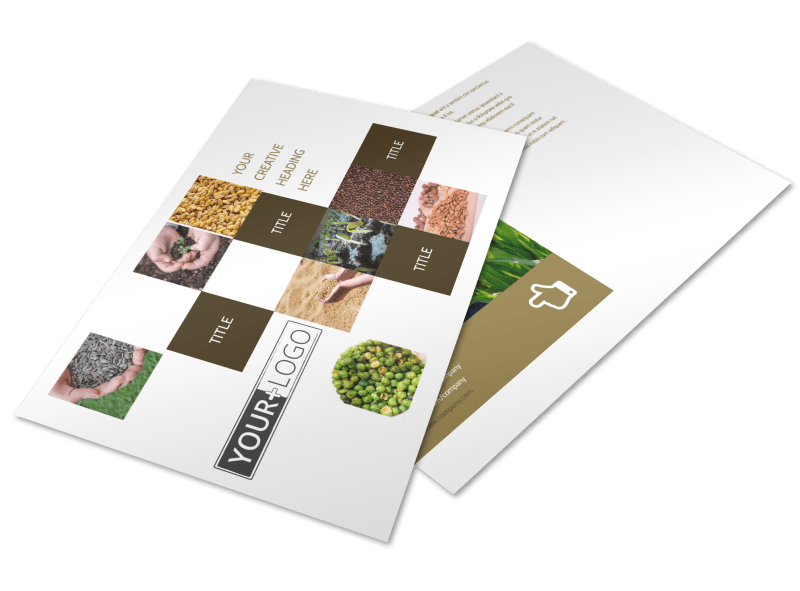 Seed Technology Postcard Template Preview 1