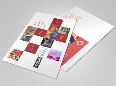 Art & Design School Postcard Template preview