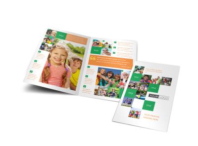 Community Non Profit Bi-Fold Brochure Template preview