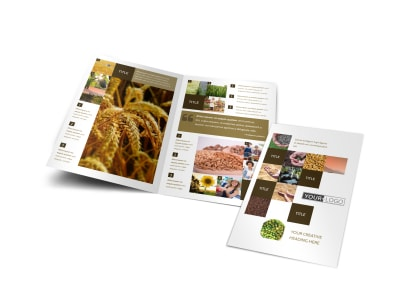 Seed Technology Bi-Fold Brochure Template preview