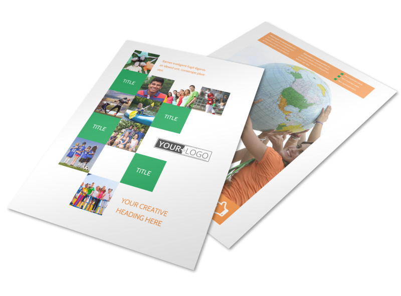 Youth Community Groups Flyer Template Mycreativeshop