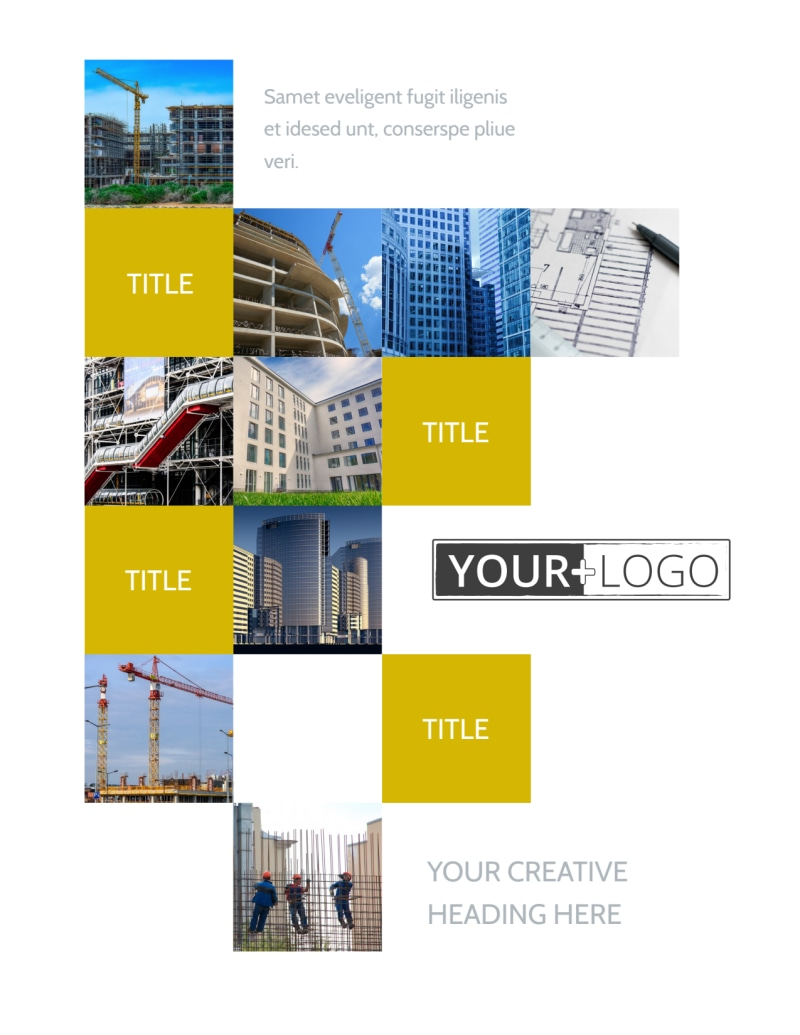 Commercial Construction Flyer Template Preview 2