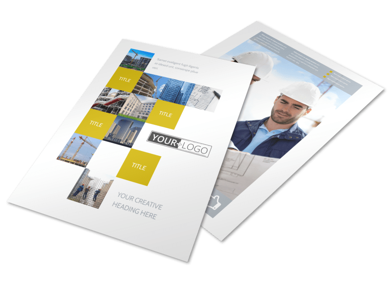Commercial Construction Flyer Template Preview 1