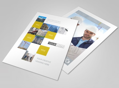 Commercial Construction Flyer Template preview