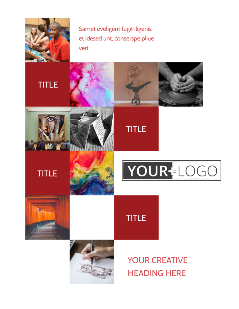 Art & Design School Flyer Template Preview 2
