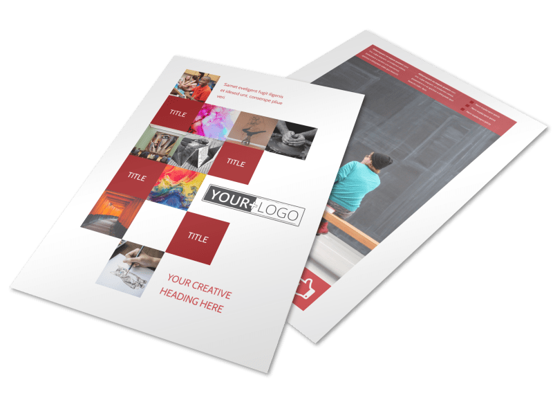Art & Design School Flyer Template Preview 1