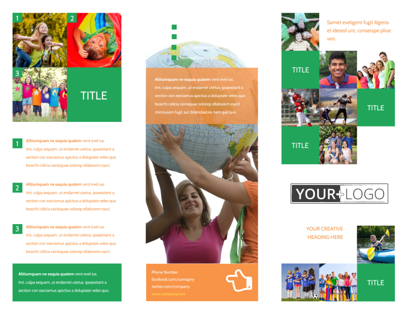 Youth & Community Groups Brochure Template Preview 2