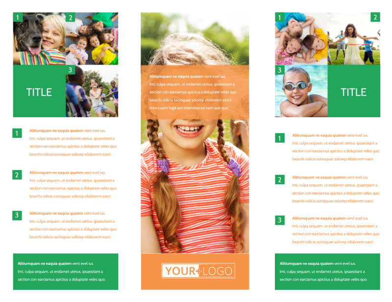 Youth & Community Groups Brochure Template Preview 3