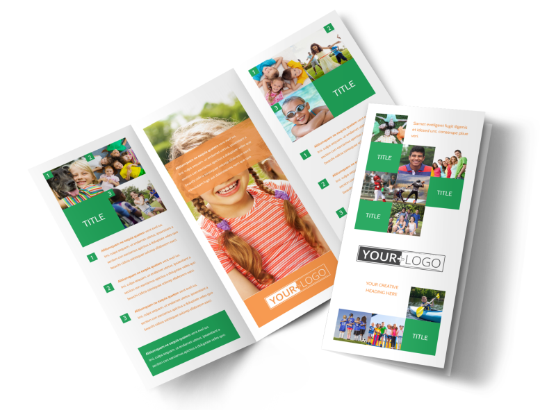 Youth & Community Groups Brochure Template Preview 1