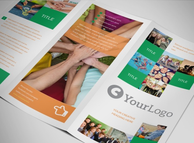 aspx login page template - non profit groups community organizations brochure templates