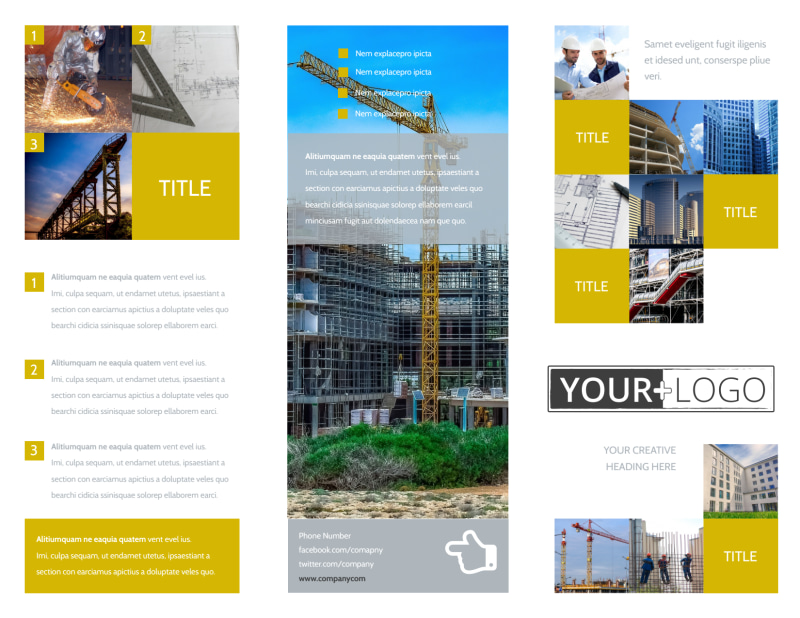 Commercial Construction Brochure Template Preview 2