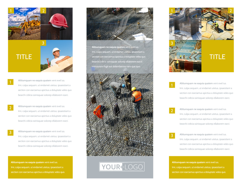 Commercial Construction Brochure Template Preview 3