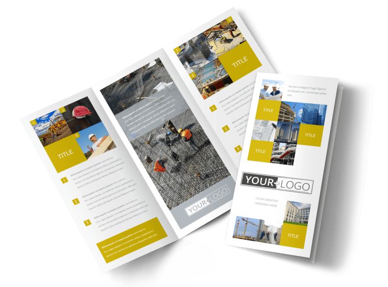 Commercial Construction Brochure Template Preview 1