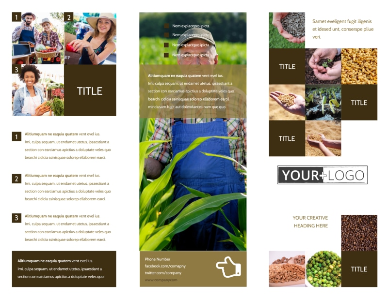 Seed Technology Brochure Template Preview 2