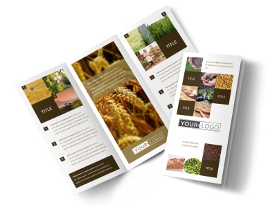 Seed Technology Tri-Fold Brochure Template preview