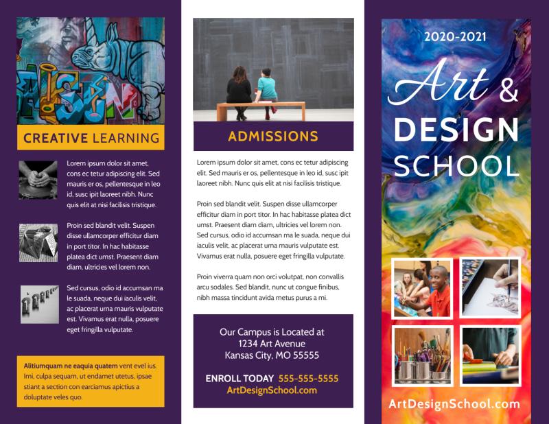 Art & Design School Brochure Template Preview 2
