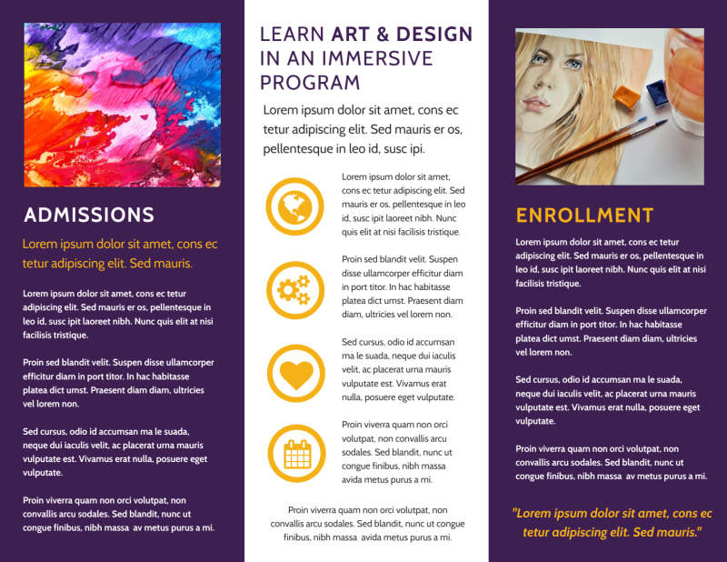 Art & Design School Brochure Template Preview 3
